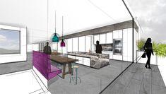 DG- Wohnung | Mayr & Glatzl Innenarchitektur GmbH Dining Table, Furniture, Home Decor, Detached House, Real Estate, Floor Layout, Sketches, Interior Designing, Dinning Table
