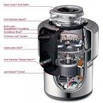 InSinkErator Evolution Excel 1 HP Continuous Feed Garbage Disposal (with Optional Power Cord) Cord Included: Apron Sink Kitchen, Farmhouse Sink Kitchen, Kitchen Garbage Disposal, Waste Disposal, Compact Kitchen, Trash Bins, Noise Reduction, Hygiene, Water Dispenser