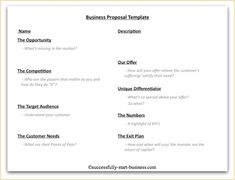 78 best client proposal templates images on pinterest business sample generic business proposal 7 documents in pdf word accmission Image collections