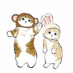 Dibujos Cute, Cute Animal Drawings, Black Veil Brides, Animation, Kawaii Art, Cat Drawing, Pretty Art, Cute Illustration, Aesthetic Art
