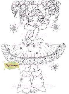 PRINTABLE Digi Stamp Downloads Snow Flake by Digidoodlestampart, $3.99
