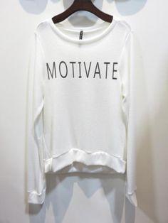 """Motivate"" Long Sleeve Top"