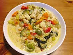 Low carb Rezepte: Fisch-Gemüsepfanne mit Kokosmilch