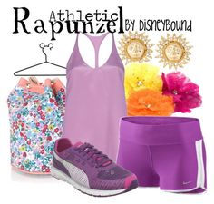 Rapunzel by leslieakay on Polyvore featuring polyvore, moda, style, 3.1 Phillip Lim, NIKE, River Island, Tarina Tarantino, Puma, Disney, fashion, clothing and disney