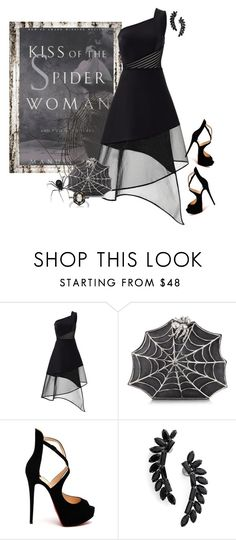 """""""Kiss of the Spider Woman"""" by kimzarad1 ❤ liked on Polyvore featuring David Koma, Bernard Delettrez, Christian Louboutin, Cristabelle and Cathy Waterman"""