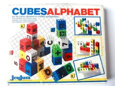 cubes alphabet jeujura vintage - Tecap Color