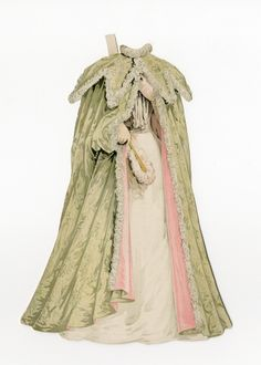 77.6906: Ladies' Opera Cloak   toy cape   Paper Dolls   Dolls   Online Collections   The Strong