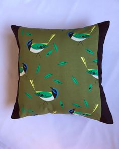 """New in Charley Harper """"Magpies"""" fabric cushions #homedecor #charleyharper #accentcushions"""