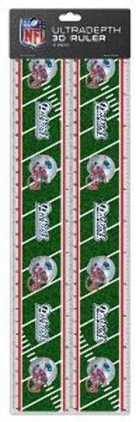 NFL New England Patriots 2pk 3-D Ruler Case Pack 72