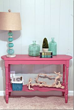 Table Transformation with Glidden Paint+Giveaway - Southern Hospitality Furniture Makeover, Diy Furniture, Furniture Vintage, Bedroom Furniture, Modern Furniture, Repurposed Furniture, Painted Furniture, Red Paint Colors, Colours