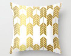 FREE SHIPPING GOLD foil X Stripes 18x18  hidden zipper pillow cover throw pillow