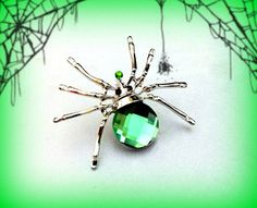 Luxury jewelry Spider brooch Beadwork Spider jewelry One of a Kind Spider Birthday gift for her Pearl Blue Spider art brooch Gift for sister Wicked Witch Costume, Gothic Halloween Costumes, Halloween Costume Accessories, Halloween Jewelry, Halloween Party Favors, Halloween Bags, Black Rhinestone, Crystal Rhinestone, Spider Art