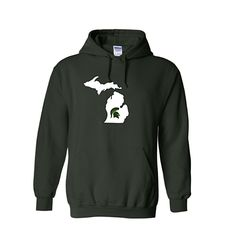 Buy Now.  MSU Spartan Michigan Mitten hoodie. https://royalmajestees.com/product/msu-spartans-michigan-hoodie/   $35.00 #msu #spartans #michigan #state #university #spartans #mitten #hoodie #clothes #clothing #apparel #fashion #football #basketball #fan #gear #tailgate