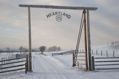 Entrance to HEARTLAND Ranch. A place for horses who have a problem can come to have a new start. Heartland Ranch, Heartland Tv Show, Heartland Quotes, Heartland Seasons, Entrance Gates, Grand Entrance, Farm Entrance, Driveway Entrance, Heartland Characters