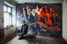 Artist at work: Valentin Zakharchenko. More on www.ohsosurreal.com
