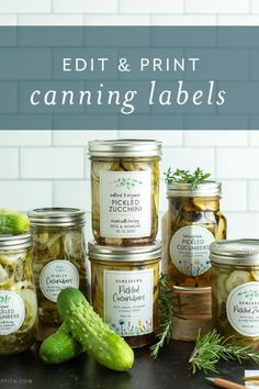 Easily update these printable label templates to match what you're canning!