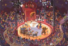 1 разворот из книги «В цирке»