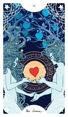 Tarot Society The lovers #beautiful #tarotcard #thelovers #tarotcardsart