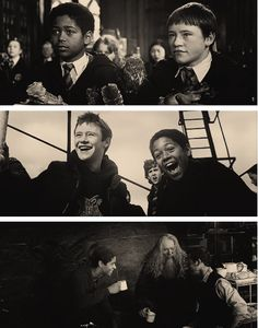 Dean and Seamus:) also notice Neville's face in the second picture lol