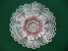 Blütentraum Shabby Vintage Spitze Antik gehäkelt Perle Blume Applikation Deko