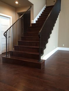 My hardwood install. I love the way the stairs came out.