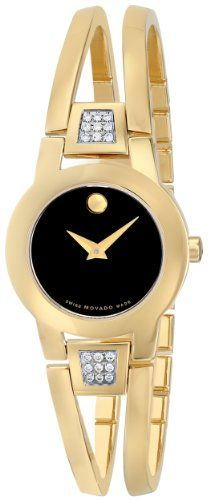 movado women s 605777 ono due diamond accented watch movado movado women s 604984 amorosa diamond accented gold plated bangle watch quality watches on