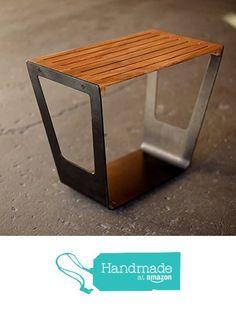 Giddy Stool, Metal and Wood End Table or Stool from Quartertwenty® http://www.amazon.com/dp/B016APQ7U0/ref=hnd_sw_r_pi_dp_JNRfwb0GESKBW #handmadeatamazon