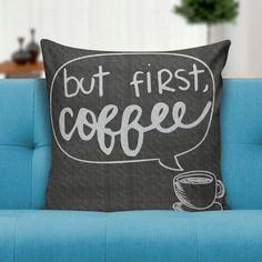 Capa para almofada But frist coffee 45x45 - PRINCE ST