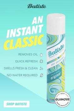 Batiste Dry Shampoo is the hair hack of all hair hacks. It will leave your hair feeling clean, with an easy-to-love scent that matches any mood. Tap the Pin for fab hair. Baking Soda For Skin, Baking Soda Beauty Uses, Baking Soda Shampoo, Natural Dry Shampoo, Batiste Dry Shampoo, Shampooing Sec, Shampoo For Curly Hair, Perfume, Natural Cosmetics