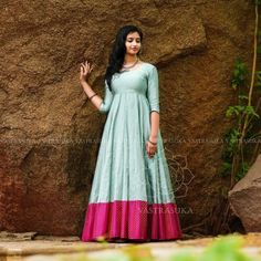 These Ethnic Long Dresses Will Give The Most Elegant Looks!! • Keep Me Stylish Indian Gowns Dresses, Indian Fashion Dresses, Dress Indian Style, Indian Designer Outfits, Frock Fashion, Indian Wear, Indian Outfits, Fashion Pants, Long Gown Dress