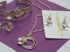 Tanya Cherepova silver and gold jewelry set