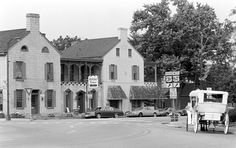 old kentucky home images | Photo of Tavern, with Jonsie's carriage at right, circa 1995.