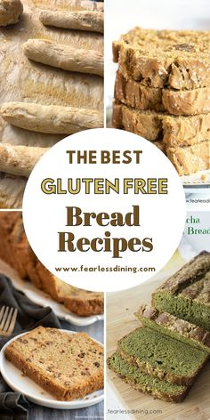 These are some of the best gluten free bread recipes from sourdough bread to quickbread and breadsticks. Lots of delicious gluten free breads to make from scratch! If you love homemade bread, these easy recipes are for you. fearlessdining Chef Recipes, Bread Recipes, Easy Recipes, Easy Meals, Cooking Recipes, Gluten Free Bread Recipe Easy, Sourdough Bread, Quick Bread, The Best