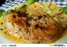 Kuřecí prsíčka špikovaná máslem a bylinkami recept - TopRecepty.cz Food And Drink, Turkey, Snacks, Meals, Chicken, Cooking, Hardanger, Diet, Recipes