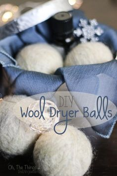 DIY Wool Dryer Balls - Oh, The Things We'll Make! DIY wool dryer balls are easy to make, and are a simple, ecological way to soften clothes and reduce dryer time and static cling.