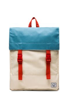 Herschel Supply Co. Rad Cars Collection Survey Backpack in Bone & Punch Bug Blue & Synchro Red from REVOLVEclothing