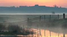 Elmley Marshes at Sunrise Isle of Sheppey Kent England wallpapers and stock photos