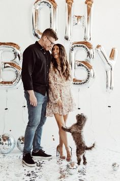 For today's Feel Good Friday post, I am sharing some of the sweetest pregnancy announcement ideas with dogs. After all, they are your babies first! Pregnancy Announcement Photography, Pregnancy Announcement Pictures, Unique Baby Announcement, Pregnancy Photos, Pregnancy Clothes, Pregnancy Outfits, Happy Pregnancy, First Pregnancy, Women Pregnancy