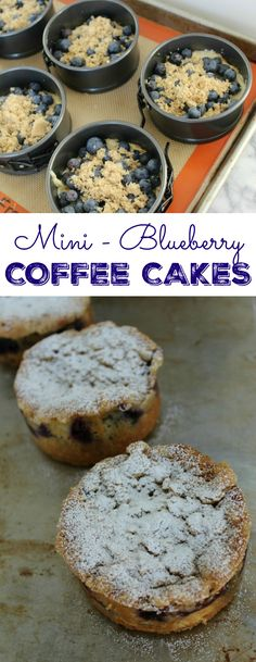 Streusel topping gives these Mini-Blueberry Coffee Cakes a warm, cinnamon flavor and a bit of crunch. These coffee cakes are so moist and easy to make! | The Crafting Foodie for OHMY-CREATIVE.COM
