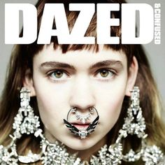 Claire Boucher aka Grimes on the Dazed & Confused magazine cover