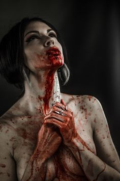 in a way this sort of represents lady macbeth after she had killed king duncan and startedgoing totally nuts and didnt know what to do wit herself // blood lust