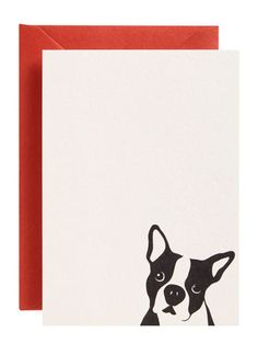 The pal who still pens hand-written notes can send them with puppy love with these letter-pressed flat cards, featuring adorable Archie the Boston terrier.