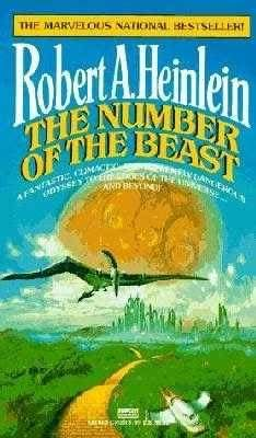 The Number Of The Beast by Robert A. Heinlein.  just finished rereading this, from the library ... my copy's in a box