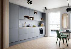 grey kitchen designs Soft Grey Kitchen with Brass and Timber Accents Ideas - grhaku Grey Kitchen Designs, Kitchen Room Design, Modern Kitchen Design, Home Decor Kitchen, Rustic Kitchen, Kitchen Interior, Modern Grey Kitchen, Kitchen Layout, Kitchen Hacks