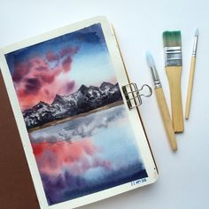 Watercolor Projects, Watercolor Drawing, Watercolor Illustration, Painting & Drawing, Aesthetic Painting, Guache, Love Art, Art Inspo, Amazing Art