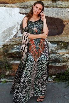 70512cdfddcf Dress kaftan long cold shoulder boho plus size express post size 20   Paisleycollection  Kaftan