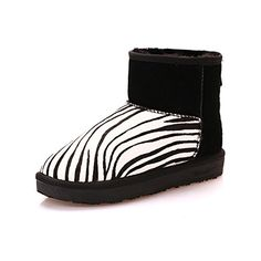 Pullon Antiskid Striped Winter Warm Women Snow Boots 85 black bamboo * Read more  at the image link. (This is an Amazon affiliate link and I receive a commission for the sales and I receive a commission for the sales)