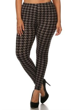 Black Mocha Geo Design Plus Size Leggings – Niobe Clothing