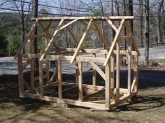 small timber frame