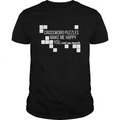 Awesome Tee Crossword puzzles make me happy you not so much T shirt